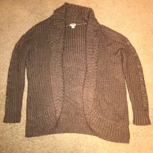 Target Brand Mossimo Brown Cocoon Cardigan